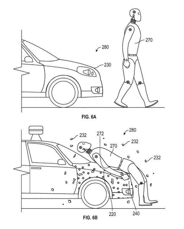 Google запатентовала специальный липкий слой для автомобилей
