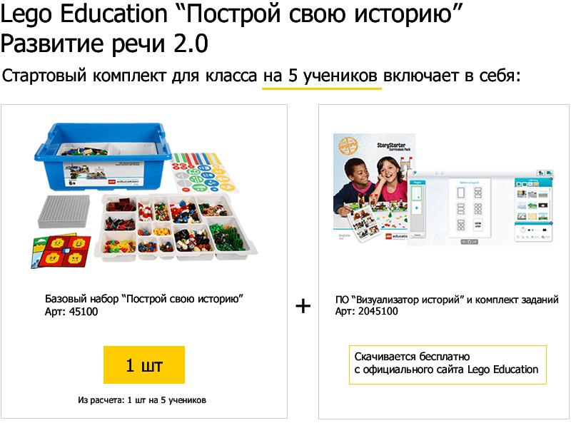 Стартовый комплект для класса Lego Education Построй свою историю Развитие речи 2.0