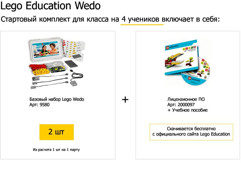 Стартовый комплект для класса LEGO WeDo набор с запасными частями lego education wedo 2000710 32 детали 7