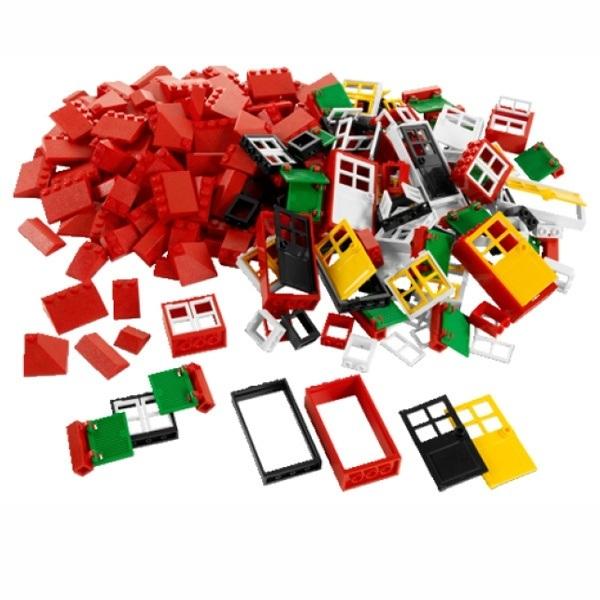 Окна, двери и черепица для крыши Lego System 9386 (4+) меняем окна и двери