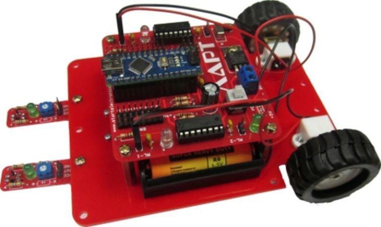 Конструктор ЛАРТ «Робот, следующий по линии» КОЗАР 1 piece free shipping anodizing aluminium amplifiers black wall mounted distribution case 80x234x250mm