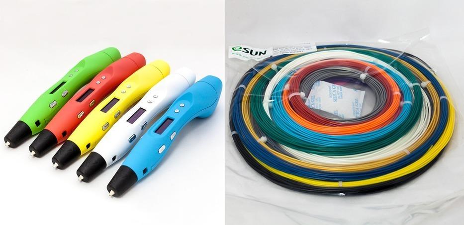3D ручка MyRiwell RP400A + Комплект пластика ABS/PLA 3d ручка myriwell rp400a