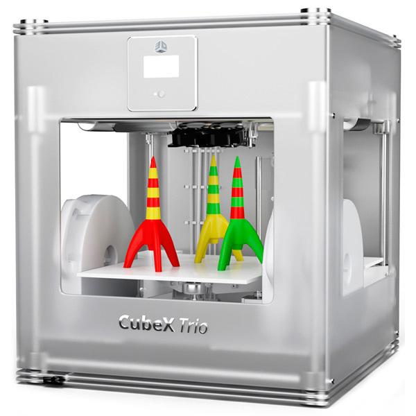 3D принтер 3D Systems CubeX - Trio (3 ПГ) 3d принтер