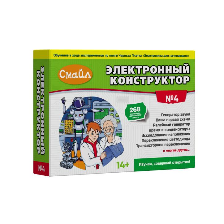 Электронный конструктор СМАЙЛ №4 электронный конструктор смайл 6