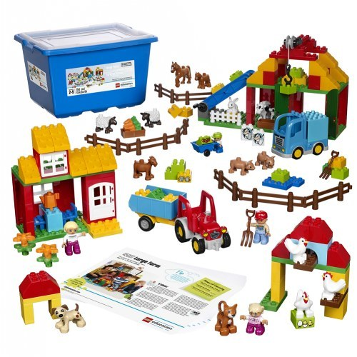 Большая ферма Lego Duplo 45007 (2+) lego education preschool 9076 набор с трубками duplo
