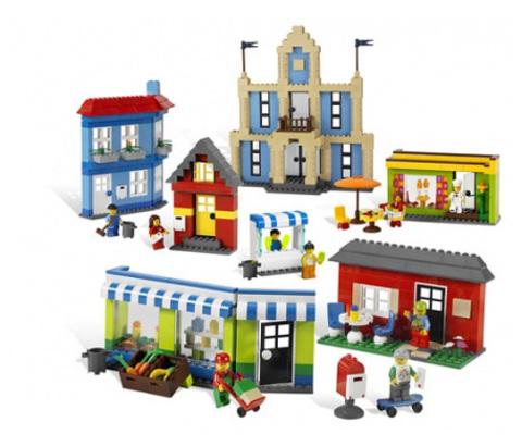 Строим здания Lego 9311