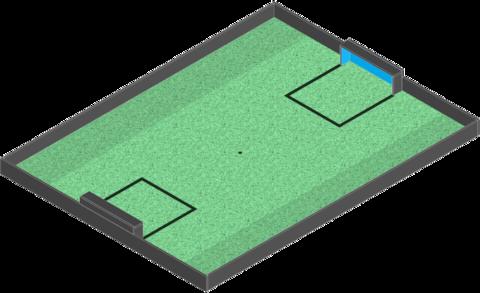 Поле Футбол без наклонов (основание + ворота)