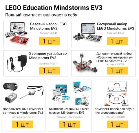 Полный комплект LEGO Mindstorms EV3 45544 (10+)