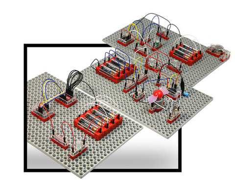 Набор НАУРОБО для сборки электронных схем начальный