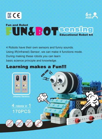 Роботы-конструкторы MRT sensing (HUNA Fun & Bot 2 - 4 робота с сенсорами)