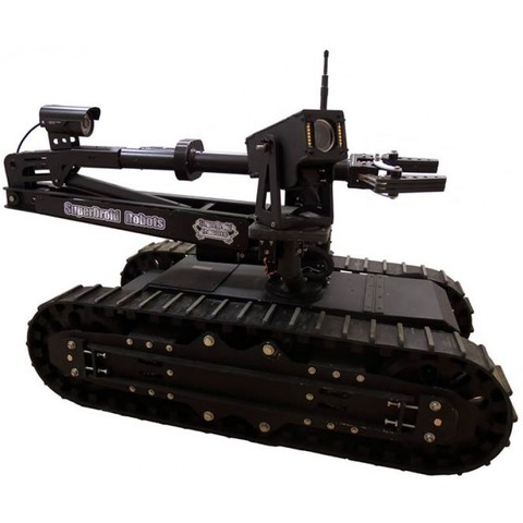 SuperDroid HD2-S Mastiff Tactical / Surveillance Robot w/ 5DOF Arm