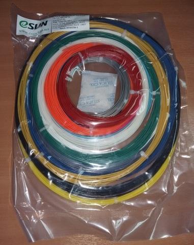 Комплект PLA-пластика ESUN 1.75 мм Для 3D ручек, 14 цветов по 9 метров каждого цвета(PLA175 Kits 3D Pens)